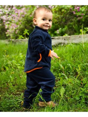 Костюм флисовый плотный МИКИТА. Цвет: темно-синий, оранжевый