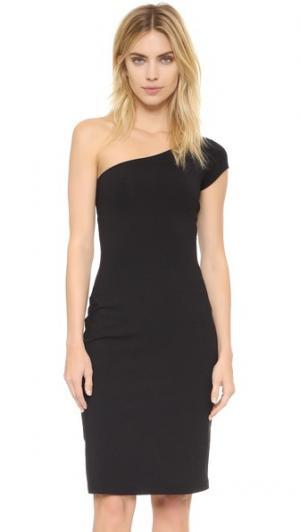 Платье с открытым плечом Shaunie Susana Monaco. Цвет: голубой