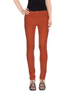 Джинсовые брюки SHINE. Цвет: ржаво-коричневый