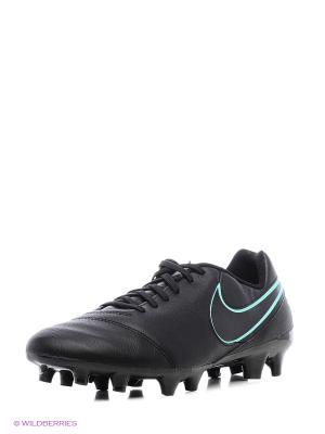 Бутсы TIEMPO GENIO II LEATHER FG Nike. Цвет: светло-серый