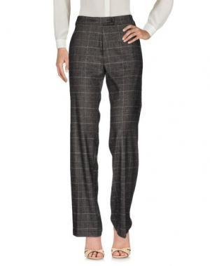 Повседневные брюки LAURA URBINATI. Цвет: темно-коричневый