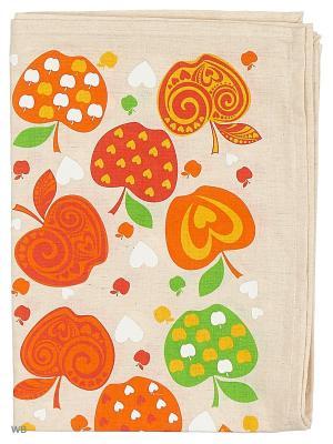 Полотенце льняное Яблоки красные GrandStyle. Цвет: красный, оранжевый