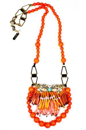 Ожерелье RADA. Цвет: оранжевый
