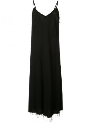 Платье с бахромой Raquel Allegra. Цвет: чёрный