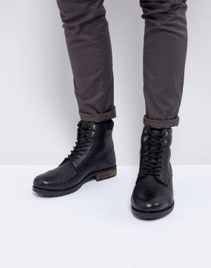 Kurt Geiger London Черные ботинки на шнуровке Rayn. Цвет: черный