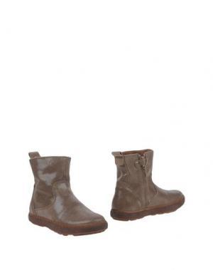 Полусапоги и высокие ботинки BISGAARD. Цвет: серый
