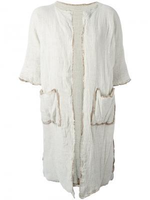 Пальто с короткими рукавами Daniela Gregis. Цвет: телесный