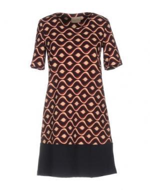 Короткое платье LOU LONDON. Цвет: красно-коричневый