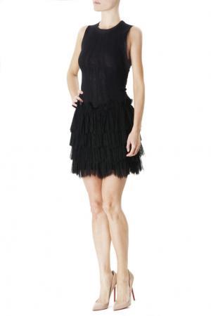 Платье-мини с оборками Jay Ahr. Цвет: черный