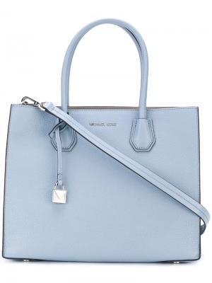 Большая сумка-тоут Mercer Michael Kors. Цвет: синий