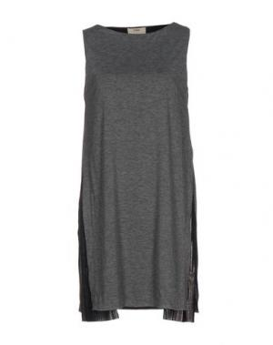 Короткое платье FUZZI. Цвет: серый