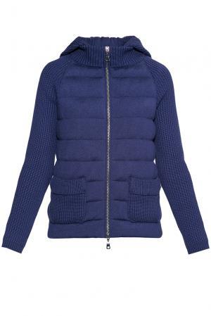 Трикотажная куртка из шерсти 172353 Baroni. Цвет: синий