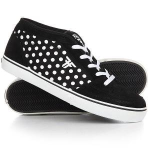 Кеды кроссовки высокие  Ranger Blk/Wht/Polka Dots Fallen. Цвет: черный,белый