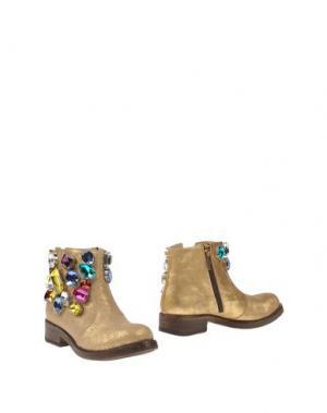 Полусапоги и высокие ботинки GIANCARLO PAOLI. Цвет: золотистый
