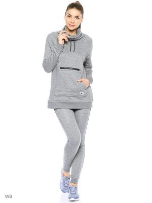 Худи W NSW MODERN FNL Nike. Цвет: серый меланж