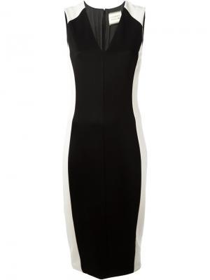 Платье-кокон с панельным дизайном Fausto Puglisi. Цвет: белый