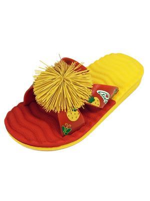Шлепанцы TINGO. Цвет: красный, желтый