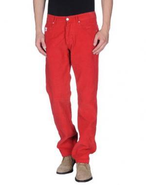 Повседневные брюки AVIO. Цвет: красный