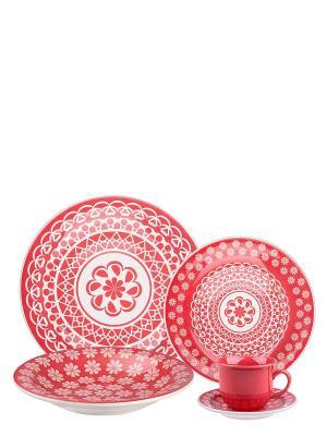 Набор столовый Ренда Biona. Цвет: красный, белый