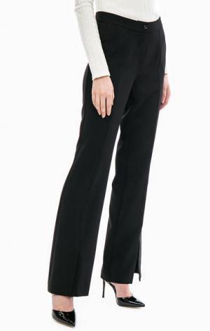 Черные расклешенные брюки Gaudi. Цвет: черный