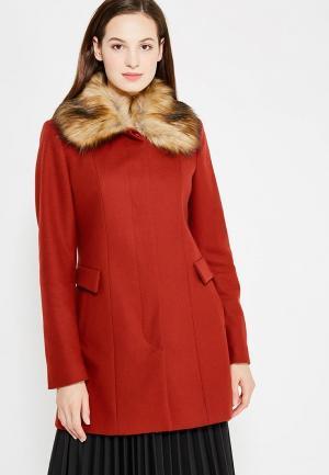 Пальто Naf. Цвет: красный