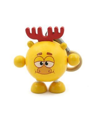 Развивающая игрушка дергунчик Лосяш Игрушки из дерева. Цвет: светло-оранжевый