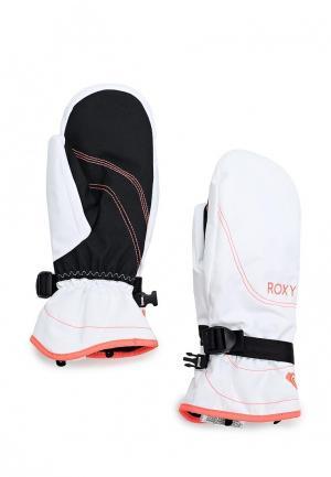 Варежки горнолыжные Roxy. Цвет: белый