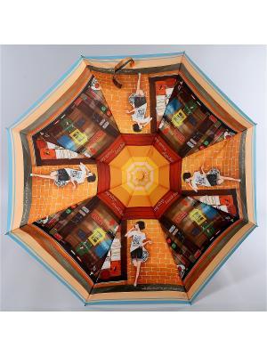 Зонт Zest. Цвет: черный,оранжевый,персиковый