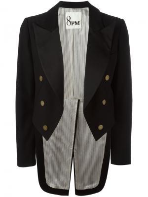 Пиджак с удлиненной спинкой 8pm. Цвет: чёрный