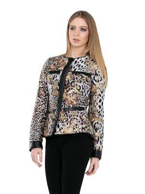 Куртка Alisa Line. Цвет: черный, золотистый