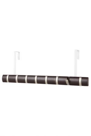 Вешалка настенная, 8 крючков UMBRA. Цвет: коричневый