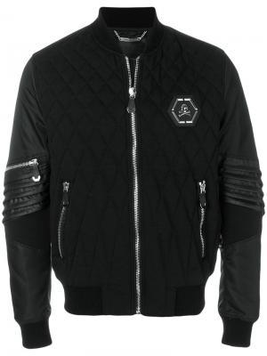 Куртка-бомбер Chomai Philipp Plein. Цвет: чёрный