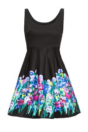 Платье из хлопка 167880 Paola Morena. Цвет: разноцветный