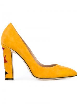 Туфли Cinderella Paula Cademartori. Цвет: жёлтый и оранжевый