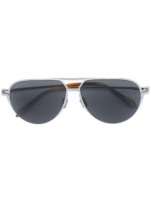 Солнцезащитные очки авиаторы Brioni. Цвет: none