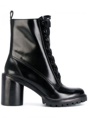 Ботильоны на шнуровке Marc Jacobs. Цвет: чёрный