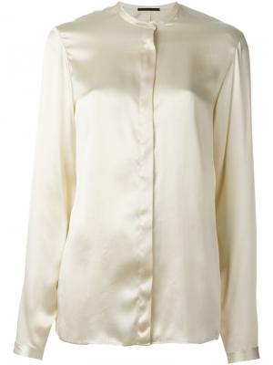 Рубашка с воротником мандарин Haider Ackermann. Цвет: телесный