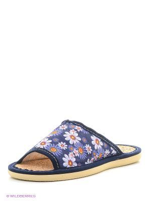 Тапочки ШК обувь. Цвет: синий