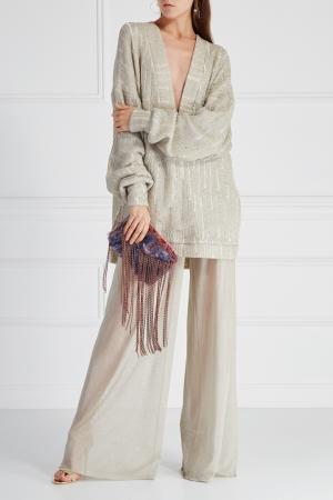 Однотонные брюки «Сапфир» Esve. Цвет: золотой