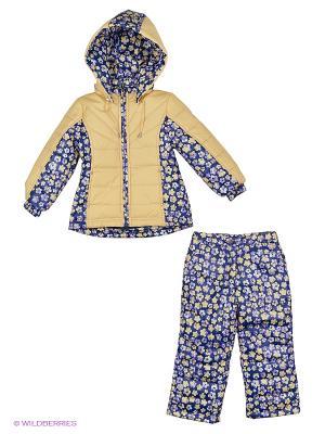 Комплект одежды SAIMA. Цвет: синий, бежевый