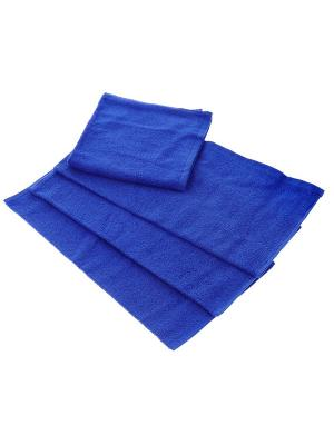 Махровое полотенце синий 40*70-100% хлопок, УзТ-ПМ-111-08-19 Aisha. Цвет: синий