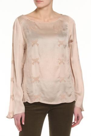 Блузка Zadig&Voltaire. Цвет: бежевый, золотой