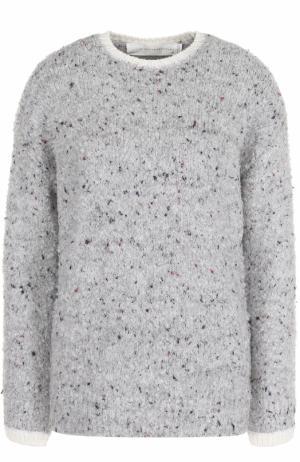 Пуловер прямого кроя с круглым вырезом Victoria, Victoria Beckham. Цвет: светло-серый