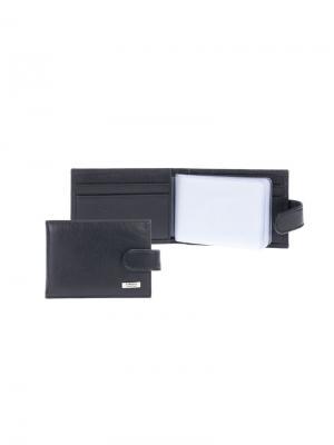 Футляр для карт с карманом Tirelli. Цвет: черный