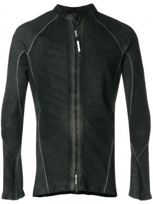 Zipped fitted shirt-jacket Isaac Sellam Experience. Цвет: чёрный