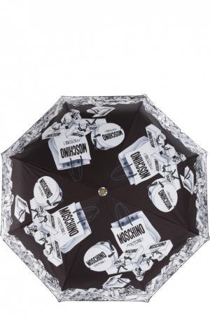 Зонт Moschino. Цвет: черно-белый