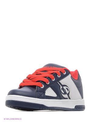 Роликовые кроссовки Heelys. Цвет: белый, синий, красный