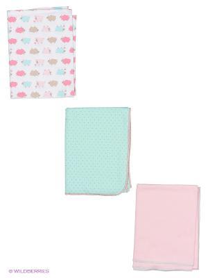 Комплект детский: пеленка 3 шт. Lucky Child. Цвет: розовый