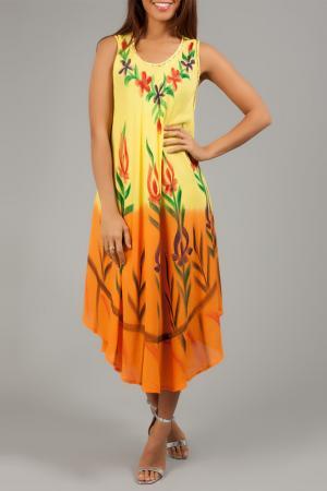 Платье ANABELLE. Цвет: желтый