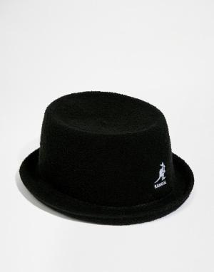 Kangol Мягкая шляпа с плоской круглой Bermuda Mowbray. Цвет: черный